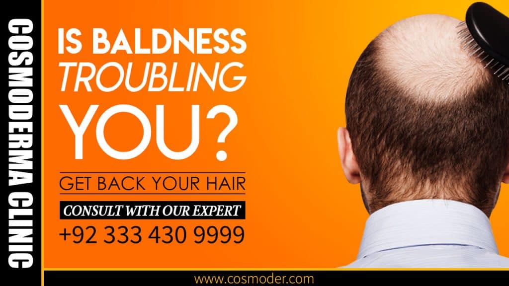 What is the latest cure of baldness in Lahore Pakistan